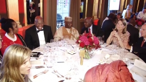 Channels 24 launch in London Chairman and Vice Chairman at table with guests