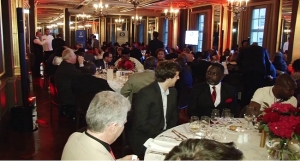 Guests at the Channels 24 launchin the UK held at the Hotel Cafe Royal London