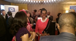 Mrs Momoh and guests at the launch of Channels 24 at Hotel Cafe Royal, London