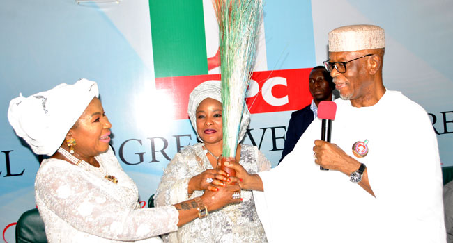 Wife of Ex-PDP Chairman, Ahmadu Ali Joins APC