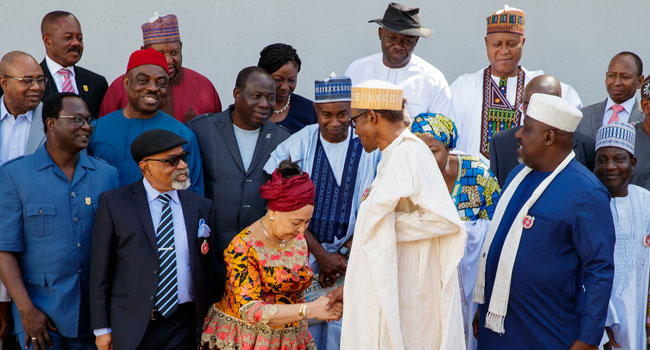 PHOTOSCENE: Buhari inaugurates committee on minimum wage